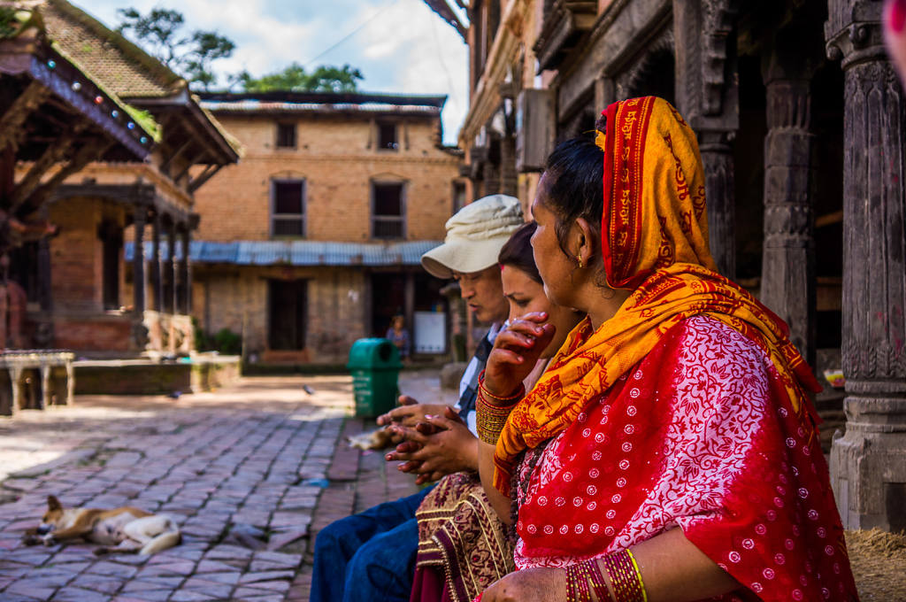 At a temple in Bhaktapur