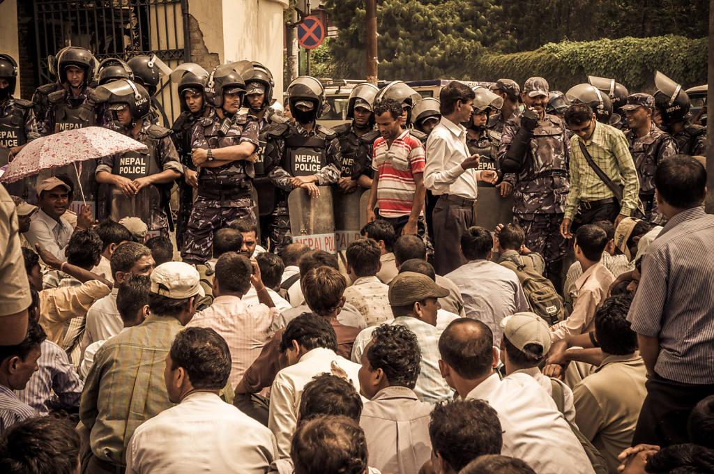 Teachers on strike in Kathmandu